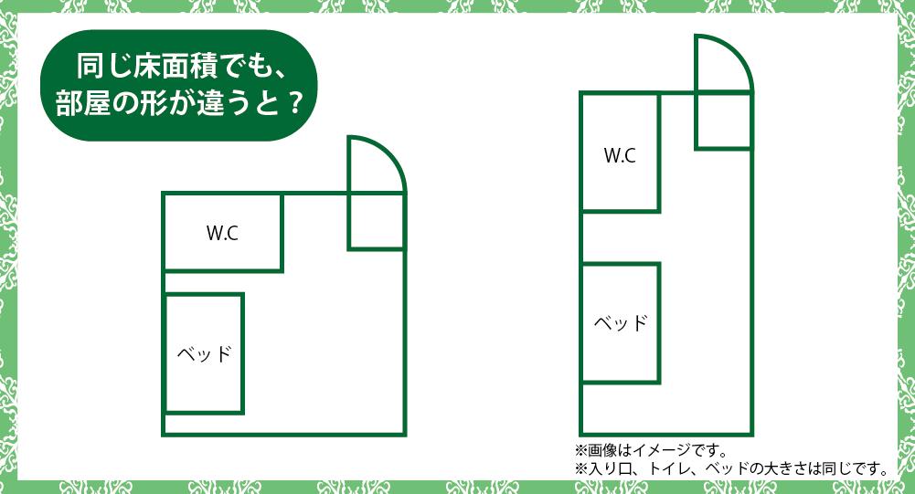 有料老人ホームの部屋の形イメージ
